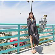 ビーチドレス夏のドレスのスカートタイ観光のボヘミアンドレスビーチドレス海辺のリゾートスカートの長いセクション