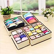 4pcs caixa de armazenamento casa caixas underwear organizador caixa bra gravata meias organizador de armazenamento