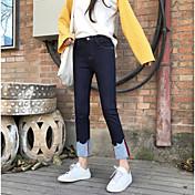 不規則な2017新しいジーンズ女性のズボンの足の口のカーリングに署名