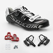 BOODUN/SIDEBIKE® スニーカー ロードバイクシューズ サイクリングシューズ サイクリングシューズ(ペダル&クリート付き) 男女兼用 クッション 超軽量(UL) ロードバイク PUレザー ラバー サイクリング