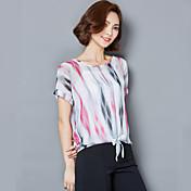 符号2017夏のブラウス韓国のファンスリムヤードストライプのシャツ底入れシャツシフォンシャツ