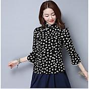 2017春と夏のドレスシャツミス唐荘民族中国茶、長袖のドレス