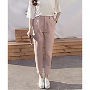 女性用 パンツ パンツ - クラシック, 純色
