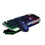 USBゲームバックライト照明キーボード及び2500dpiキーマウス2個キットをクラッキング