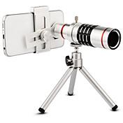 Lente de la cámara del teléfono del kit de la lente del teleobjetivo del telescopio óptico del zumbido de la alta calidad 18x con el