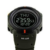 SKMEI Hombre Reloj Deportivo Reloj Militar Reloj de Moda Reloj de Pulsera Reloj digital Japonés Digital Despertador Calendario Cronógrafo