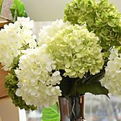 1 Rama Seda Hortensias Flores Artificiales