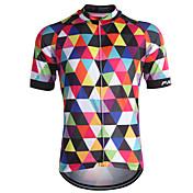 Fastcute Maillot de Ciclismo Hombre Manga Corta Bicicleta Camiseta/Maillot Top Secado rápido Cremallera delantera Transpirable Reductor