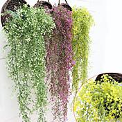 1 ブランチ プラスチック 植物 バスケット フラワー 人工花