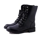Støvler-Kunstlæder-par Sko-Damer--Udendørs Kontor Fritid-Flad hæl