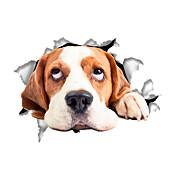 Zvířata Komiks Módní Samolepky na zeď Samolepky na stěnu Ozdobné samolepky na zeď Samolepky na toaletu,Vinyl Materiál Home dekoraceLepicí