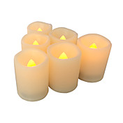 6つの炎のないろうそくのセットflamelessの祈りのろうそくは、タイマ電池駆動のledろうそくの長い電池寿命