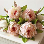 1 Rama Plástico Peonías Flor de Mesa Flores Artificiales