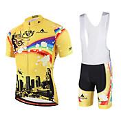 Miloto Maillot de Ciclismo con Shorts Bib Hombre Mujer Niños Unisex Manga Corta Bicicleta Petos de deporte/Culotte con tirantes Sudadera