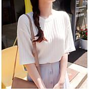 レディース お出かけ Tシャツ,ヴィンテージ ストリートファッション ラウンドネック ソリッド コットン 半袖