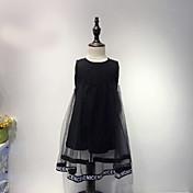 Vestido Chica de Encaje Algodón Sin Mangas Verano De Encaje Negro