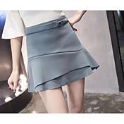 レディース Aライン 日常 膝上 スカート ゼブラプリント 夏