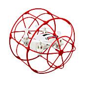 RC Dron JJRC HY370 Red 4 Canales 6 Ejes 2.4G - Quadccótero de radiocontrol  Iluminación LED Vuelo Invertido De 360 Grados Flotar