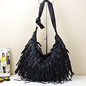 レディース 女性 バッグ 秋 牛側 タッセル のために カジュアル ブラック