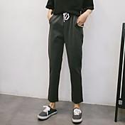 レディース ビンテージ ストリートファッション ミッドライズ ルーズ ハーレム strenchy チノパン パンツ ゼブラプリント