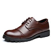 男性用 靴 PUレザー 春 夏 フォーマルシューズ スニーカー のために オフィス&キャリア ブラック Brown