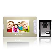 """tmax® 7 """"de intercomunicación de entrada timbre videoportero lcd casa con 500TVL cámara de visión nocturna"""