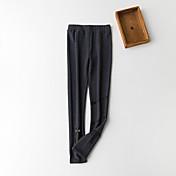 Mujer 60D Sólido Algodón Un Color Legging