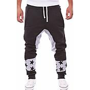 男性用 活発的 ハーレム ルーズ 活発的 スウェットパンツ リラックス パンツ パッチワーク