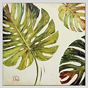 手描きの 花柄/植物の 抽象画 1枚 キャンバス ハング塗装油絵 For ホームデコレーション