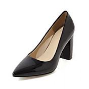 Mujer Zapatos PU Primavera Verano Otoño Confort Innovador Tacones Tacón Robusto Dedo Puntiagudo Para Casual Vestido Fiesta y Noche Blanco
