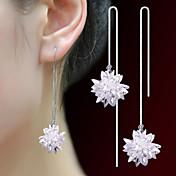 Dame Store øreringe Enkelt design Krystal Smykker Til Bryllup