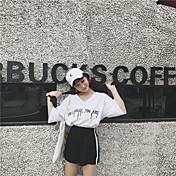 レディース カジュアル/普段着 夏 Tシャツ(21) パンツ スーツ,ソークオフ ラウンドネック ソリッド 半袖