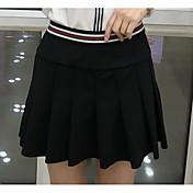 Mujer Bonito Noche Mini Faldas,Línea A Verano Un Color