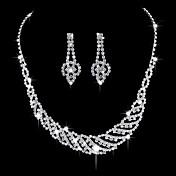 Dámské Visací náušnice Obojkové náhrdelníky Svatební šperky Soupravy imitace drahokamu Retro Elegantní Zirkon Geometric Shape ProSvatební