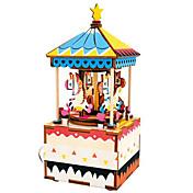 Puzzles de Madera Juguetes Caballo Tio Vivo Dibujos Merry Go Round Bonito Manualidades Compuesto Niños Piezas