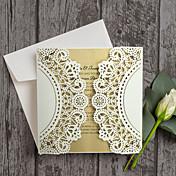 観音折り 結婚式の招待状-招待状カード 招待状サンプル 母の日のカード ベビーシャワー・カード ブライダルシャワー・カード 婚約披露パーティー・カード モダンスタイル エンボス紙