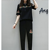 レディース 夏 Tシャツ(21) ドレス スーツ ラウンドネック 半袖