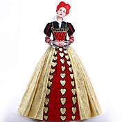 reina de corazones Disfrace de Cosplay Ropa de Fiesta Baile de Máscaras Cosplay de películas  Vestido Enagua Pelucas Navidad Halloween