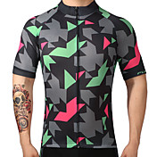 FUALRNY® Maillot de Ciclismo Hombre Manga Corta Bicicleta Camiseta/Maillot Top Secado rápido Transpirabilidad 100% Poliéster Verano
