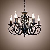 Candelabros de estilo europeo sala de estar comedor luces simple originalidad innovadoras velas 6 lámparas de cabeza
