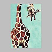 手描きの 動物 垂直パノラマ, アーティスティック コンテンポラリー キャンバス ハング塗装油絵 ホームデコレーション 1枚