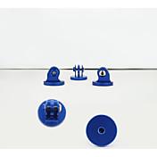 Asj gopro accesorios de alta calidad de cobre tuerca conectar trípode montaje selfie pegatina negro adaptador