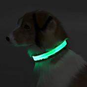 Perro Cuello Reflexivo / Luces LED Un Color Terileno Verde / Azul / Rosa