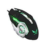Zerodate definición macro silencioso ratón mecánico 6d llave completa conjunto de definiciones macro cuatro colores luminoso ratón de