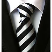 Hombre Todas las Temporadas A Rayas Corbata,Rayas Blanco