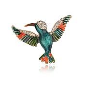 女性用 ブローチ ラインストーン アニマルデザイン ビンテージ 合金 鳥 ジュエリー 用途 日常