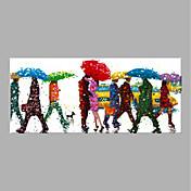 手描きの 花柄/植物の 縦式,抽象画 1枚 キャンバス ハング塗装油絵 For ホームデコレーション