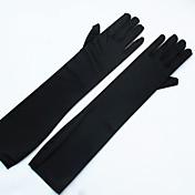 ストレッチサテン スパンデックス生地 オペラレングス グローブ ブライダル手袋 パーティー/イブニング手袋 With 真珠