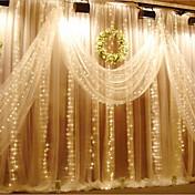 3m x 3m 300 led icicle streng lys christmas xmas fairy lys udendørs til bryllup / fest / gardin / haven dekoration