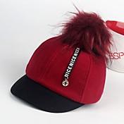 Sombreros y Gorras Niños Niñas,Invierno Otoño Mezcla de Lana Negro Rojo Rosa Gris